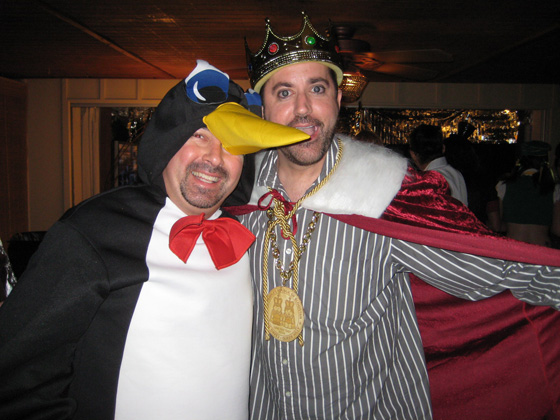 Marty the penguin and Dave the King