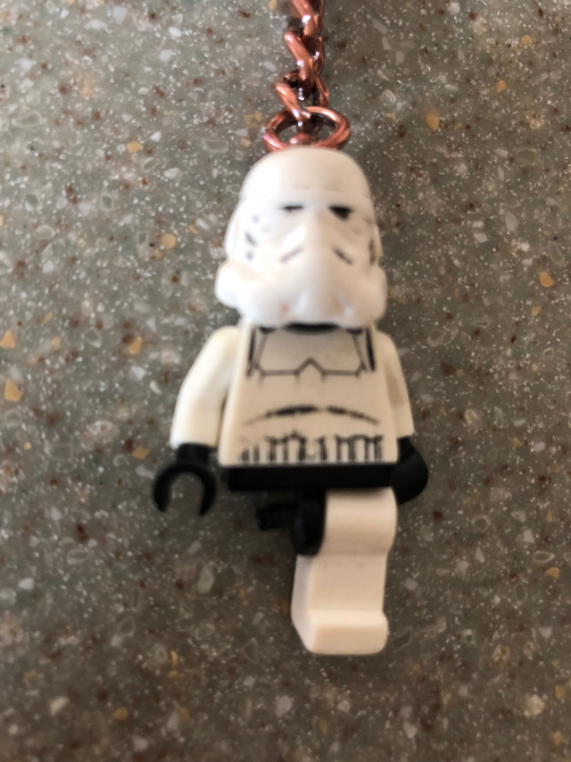 LEGO stormtrooper keychain