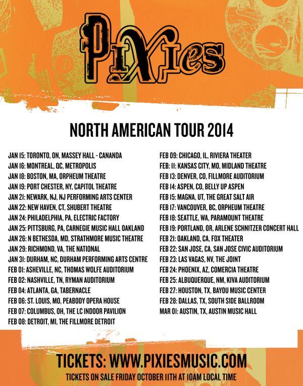 PIXIES TOUR 2014