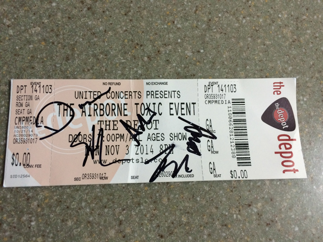 tate signed ticket