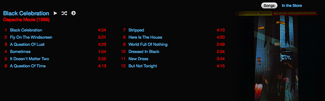 black celebration track listing