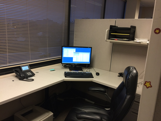 cube desk last day