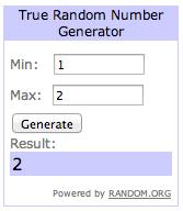 random winner #1