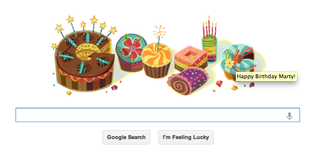 google marty bday