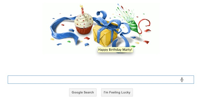 Google Marty b-day