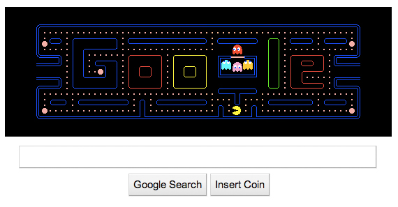 Google's Pac-Mac home page