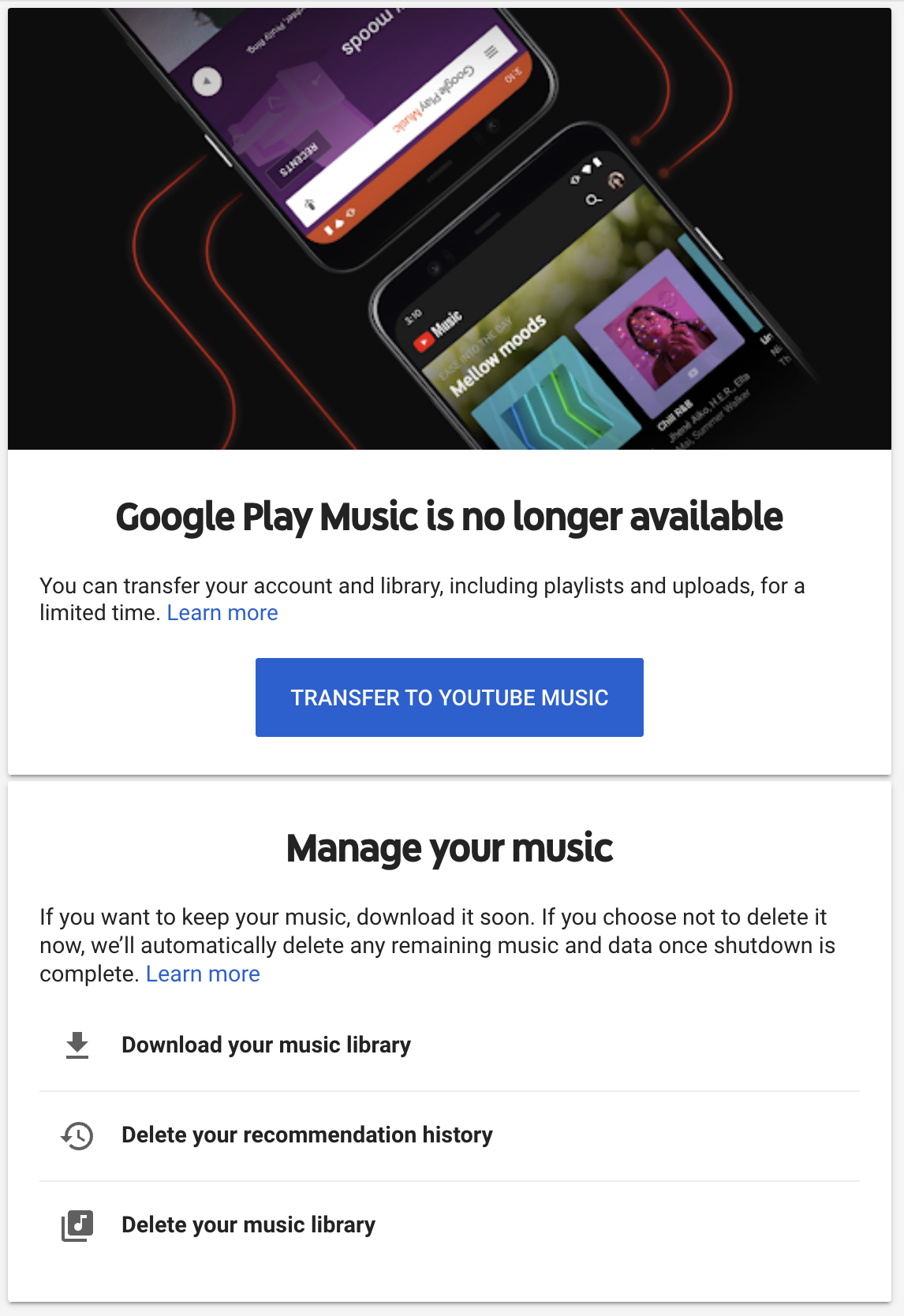 Google Play Music RIP