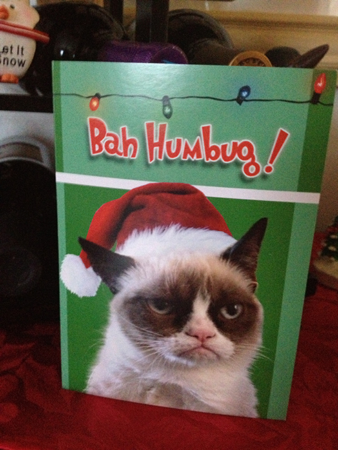 grumpy cat xmas card