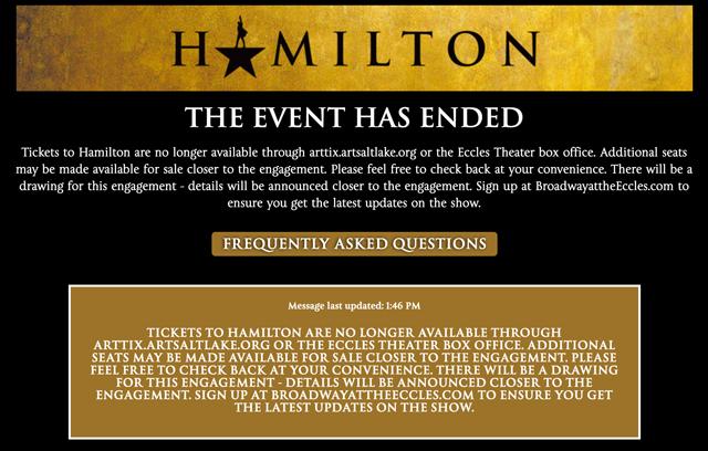 hamilton tickets