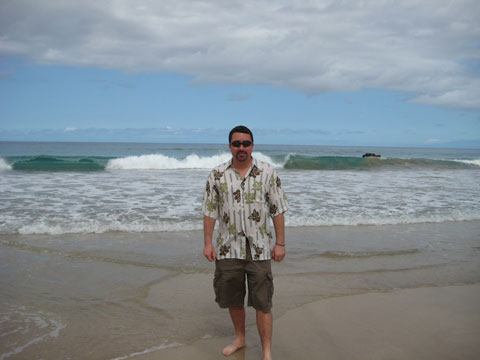 Marty at Hapuna State Beach