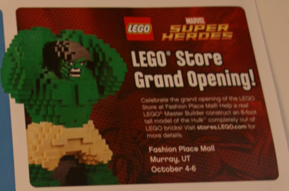lego store grand opening oct 4th