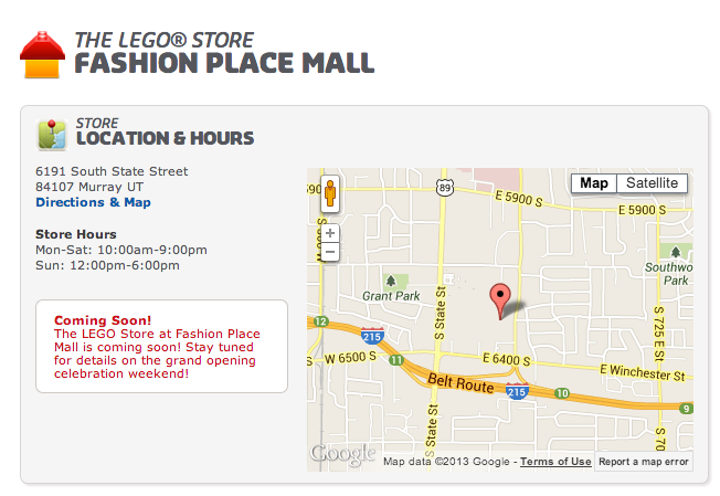 lego store fashion place