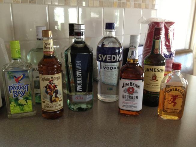 booze selection
