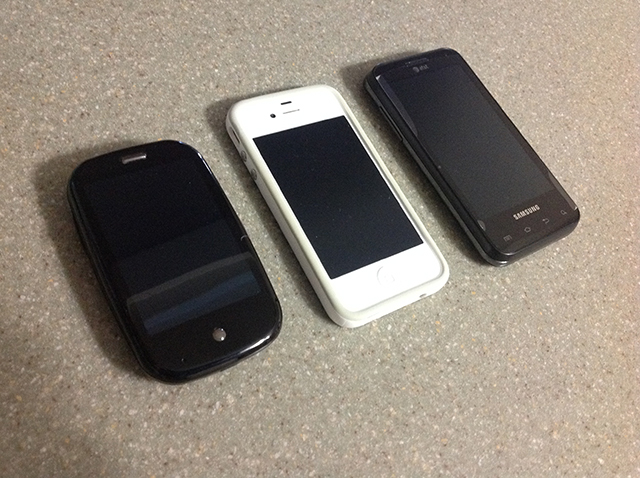 my three phones