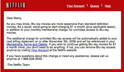 Netflix Blu-ray announcement