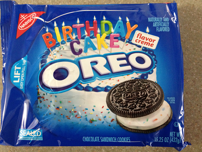 Another wonderful Oreo creation – this time, it's birthday cake