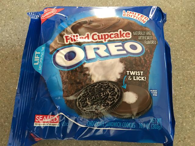 oreo filled cupcake