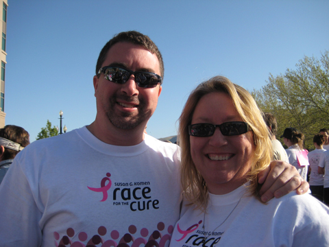 Marty and Reba at the Race for the Cure
