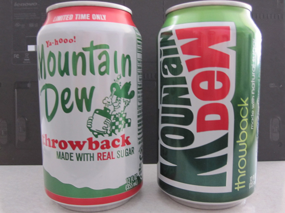 Mtn Dew side by side
