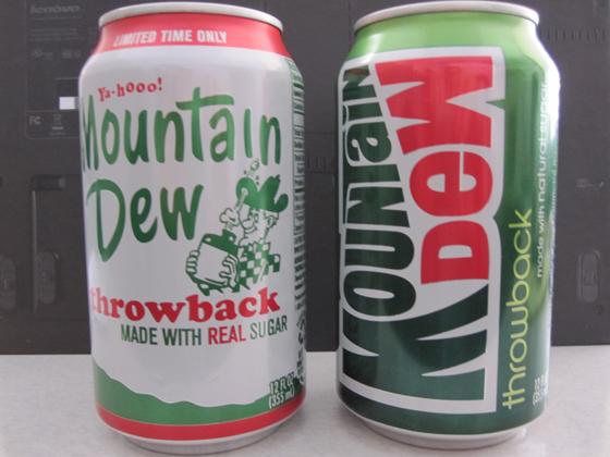 Mtn Dew side by side