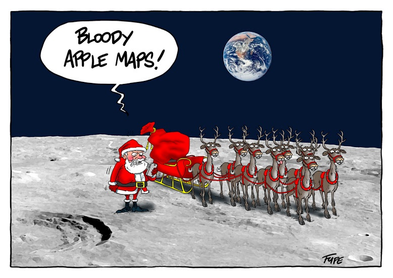 santa apple maps