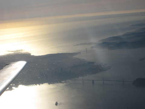 a view of San Fran from the plane
