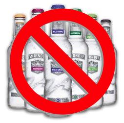 No more alcopops