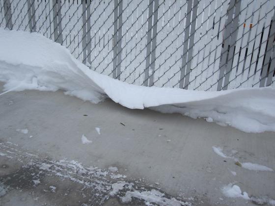 snow bending