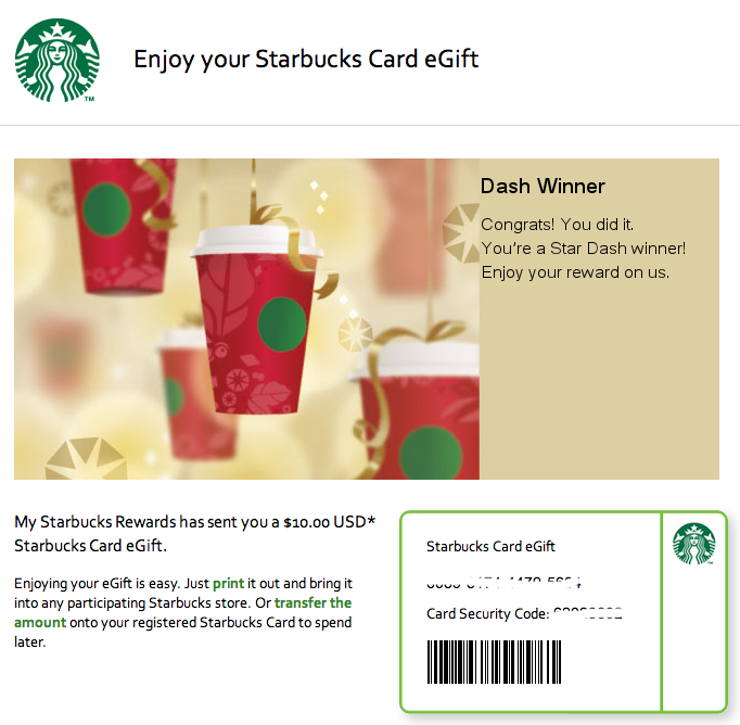 Starbucks Star Dash 2013 | Banal Leakage