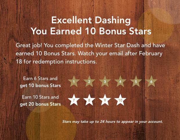 10 bonus stars