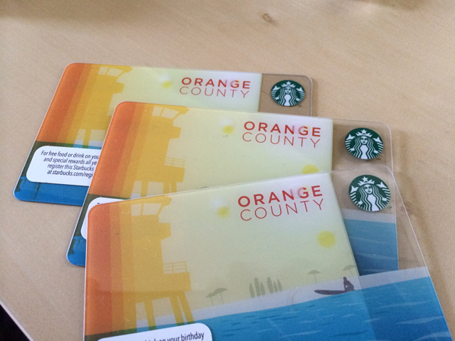 starbucks OC card