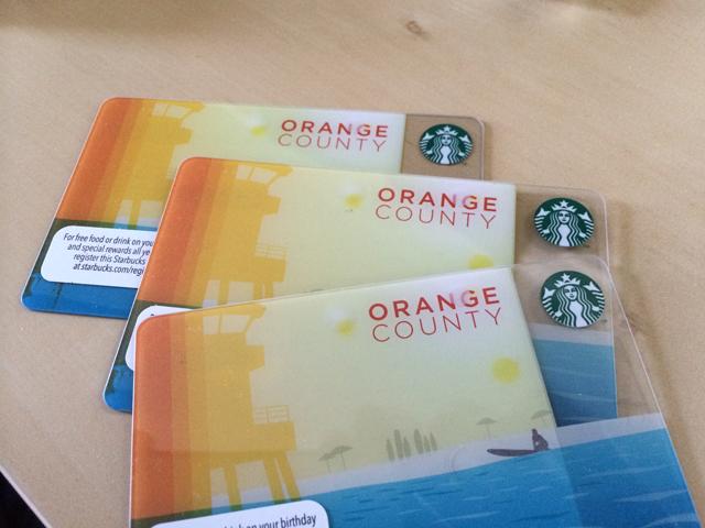 starbucks OC card