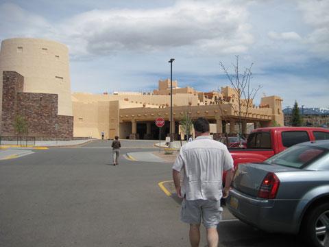 Wayne walking to casino