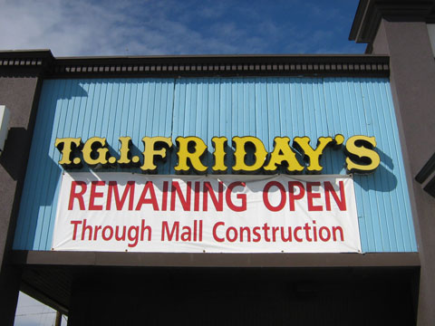 Friday's remain open during construction