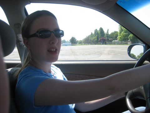 my daughter driving my car!